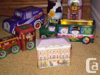 FOR  SALE  I have 11 antique and collectible tins.