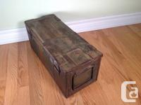 WW2 military Storage space box Strong steel box and