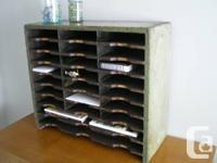 I am selling an original Letter Mail Sorter Cabinet /