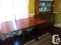 Set includes: buffet/hutch, 6 chairs (2 with arms, 4