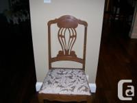 This beautiful antique table and 6 chairs is definitely