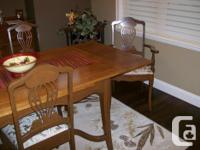 Beautiful Cherry Wood Dining Set. This set is over 150