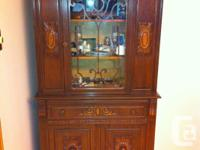 9 piece antique dining room suite,6 chairs,table with