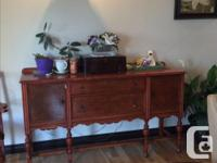 Built in early 1920s table , 6 chairs, China cabinet