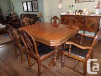 Mahogany Dining Set for sale.  Asking $600.00 obo for