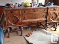 Selling my grandmother's antique dining suite as we