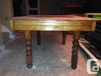 Stunning antique oak/ash eating space table for sale.