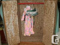 selling this antique Handmade Wooden Doll closet As is,