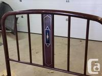 """Old steel double bed frame and spring. Good shape. 48"""""""