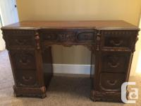 Beautifully carved antique dresser and dressing table /