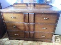 solid oak Antique bedroom dresser set 4 piece set