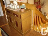 Very nice oak sideboard or dresser,has applications of