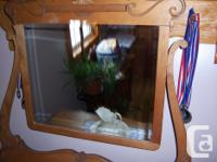 This dresser is in great shape and has a new mirror. It