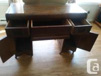 "Great dresser in ""fair"" condition on 6 castor wheels."