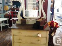 This dresser and mirror is in fabulous condition, come