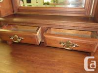 Circa 1900 mahogany 4 drawer dresser with tilting