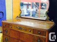 I have an Antique dresser for sale.  It's circa 1930's,