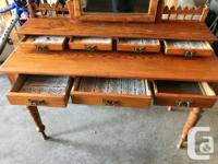 Antique dressing/make-up table (c. 1890)--more