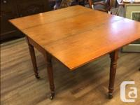 Antique Drop Leaf Farm Table Original Feet Measures: H.