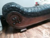 Horse hair stuffed, antique fainting couch. Picked this for sale  British Columbia