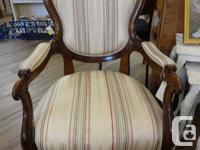 Gorgeous pair of antique fireside chairs. All solid