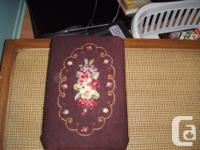 Beautiful Condition is this Tapestry covered foot stool