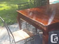 Gorgeous antique French Leg Dining Table in excellent