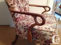 Two antique French Provincial arm chairs. Identical