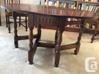 Used, Gateleg Drop Leaf oak dining table, oval top, Jacobean for sale  British Columbia