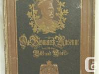This is a unique German book from the Bismarck Museum