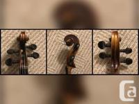 Antique German Violin / Fiddle Recently set up, this