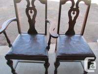 Gibbard Solid Walnut Dining Room set. Table with two