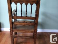 Beautiful Antique Oak Hall Chair...In Very Good
