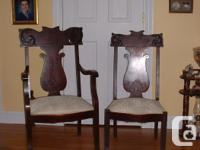 Two matching his & her chairs in great condition - very