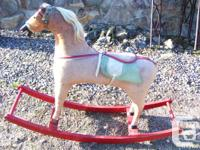 Antique Rocking Horse From Ireland Early 1900s.