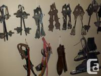 A must see 32 pairs of antiques skate collection plus 3
