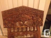 Hand crafted from solid wood, these Antique Indian