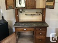Oak Hoosier Kitchen Cabinet - all original condition