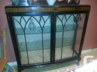 Good condition lovely wood and glass storing/display