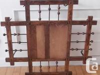Antique mirror and hall rack. Hall rack with 8 wire
