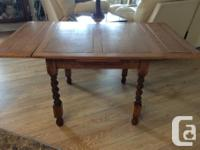 Antique Oak Barley Twist Refractory Pub/Dining Table