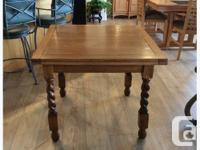 Antique Oak Barley Twist Refractory Pub/Dining Table