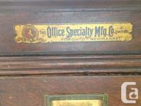 Antique Oak Lawyers Filing Cabinet. Must See !!! Solid