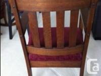 The chair is made from beautiful hand sawn oak that has