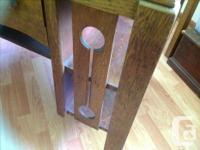 Antique oak desk. Gorgeous, with long, pull-through