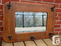 I have a heavy antique Oak mirror for sale. It has 5