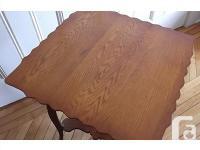 Antique oak parlour table. Beautiful ornate carving