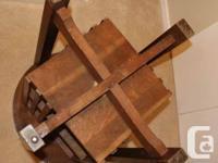 "Antique oak revolving bookcase. Height - 30 3/4""&"