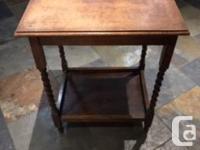 Antique Table - Oak. Excellent condition. Walnut