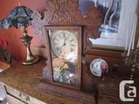 Beautiful gingerbread clock. The clock runs a bit and